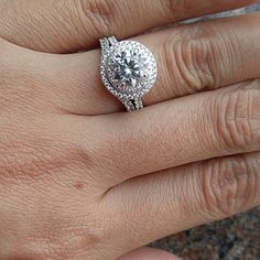 Beautiful 1.5 carat double halo ring with curved band. Gorgeous!!