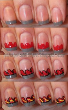 Polish Art Addiction: Disney Dumbo French Tips