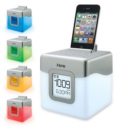Of course you have your phone, but trust us, you'll need some extra help to get out of bed for that 8a.m. seminar! This cute alarm clock/iPhone-charging speaker dock makes getting out of bed for an early class slightly less painful. It changes colors while playing music, creating a colored light show in your room.  iHM28 Alarm Clock, $49.99, ihomeaudio.com   - Seventeen.com