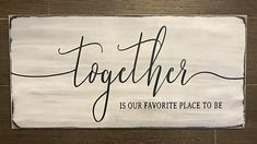 This is a 12x24 birch wood sign that is painted in white and black chalk paint and sanded for a distressed look - $42 at Sign Me Up Design Shoppe on Etsy