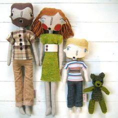 custom family softies, simplijessi, etsy