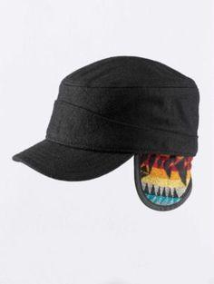 Pendleton Woolen Mills: WOOL TANK CAP WITH FLAPS