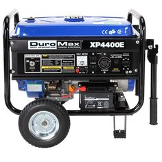 Duromax 4400 Watt 7 0 Hp Ohv 4 Cycle Gas Powered Portable Generator With Wheel Kit And Electric Start 5 Best Portable Generator, Gas Powered Generator, Diy Generator, Inverter Generator, Power Generator, Camping Generator, Solar Energy, Solar Power, Circuit