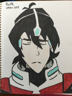 Drawing of Keith, from Voltron. -Sydney Cole
