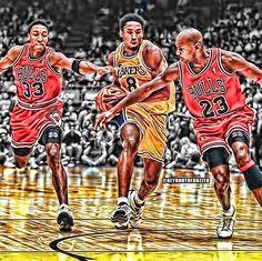 Kobe Bryant vs Michael Jordan and Scottie Pippen