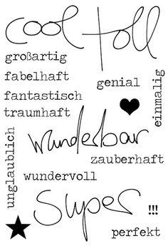 "#dpMonatsstempel AddOn zum #dpJunikit15 von www.danipeuss.de   Klartext Stempel ""super"""