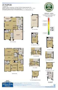William ryan homes tampa juniper floor plan 3270 sq ft 4 for Juniper floor plan
