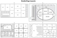 Double-Page Layouts // Great website with sketch layout templates for scrapbooks.