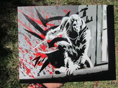 Corvo Attano Stencil by BandannaPanda on Etsy, $20.00