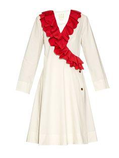 TRADEMARK Safi ruffle cotton-blend dress