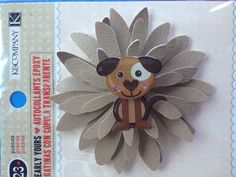 Taupe vinyl hair clip made with the Sizzix Daisy die @Sizzix