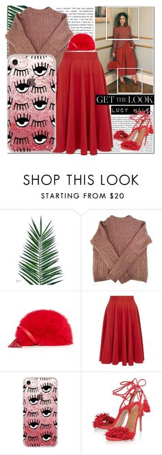 """""""GET THE LOOK   CASETIFY"""" by yagmur ❤ liked on Polyvore featuring Nika, Acne Studios, Loeffler Randall, Closet, Casetify and Aquazzura"""