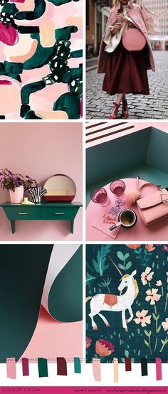 A true autumn feeling colour crush post today, seeing pinks, berry and burgundy tones paired with emerald greens...a winning combination! ...