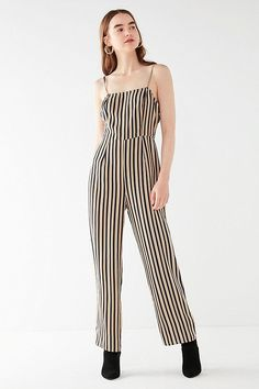 1f079153a40a4 Slide View  2  UO Straight-Neck Striped Jumpsuit Urban Outfitters Women,  Stripes