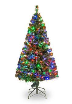 National Tree Company 60-Inch Fiber Optic Evergreen Tree - http://www.christmasshack.com/christmas-trees/fiber-optic-christmas-trees/national-tree-company-60-inch-fiber-optic-evergreen-tree/