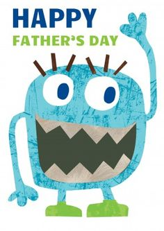 Blue Monster Dad | Fathers Day Card