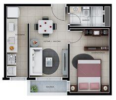 Studio Apartment Floor Plans, Apartment Plans, Home Building Design, Home Design Plans, Apartment Interior Design, Interior Design Studio, Tiny House Plans, House Floor Plans, Plan Hotel