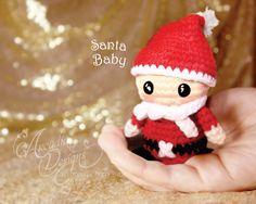 Christmas Ornament Crochet Amigurumi Santa Claus by All4partytime