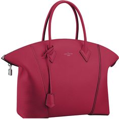 "Louis Vuitton by Nicolas Ghesquière F/W 2014.15 ""Lockit"" bag in framboise."