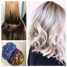 "TRANSFORMATION: More Than A Touch Up | Modern Salon. I love how this looked ""lived in"" but it's good quite a balayage. Don't really like the white color.. But overall pretty look!"