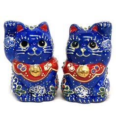 Japanese pair Maneki Neko Lucky cats Blue Kutani ceramic Kutani http://www.amazon.com/dp/B00JJJRAQK/ref=cm_sw_r_pi_dp_I43mub19Y1TCY