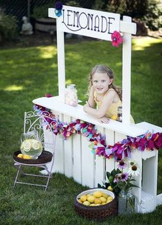 Lemonade stand. Would have loved this as a kid- we made ours from cardboard.
