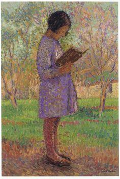 Henri Martin(1860ー1943)「Young Girl Reading」