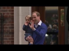 Royal baby: Prince George and Prince William arrive at Lindo Wing - YouTube