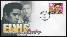 Issued of January Elvis Presley - Memphis postmark First Day Cover. Military Couples, Military Love, Army Love, Elvis Presley Stamps, Young Elvis, World 2020, First Day Covers, One Kings, Unique Photo