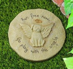 for grandma today, Amazon.com: Dog Memorial Stepping Stone Run Free Now Play With Angels From Grasslands: Home & Kitchen