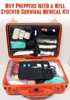 Why Preppers Need a Well Stocked Survival Medical Kit - Today we pretty much take for granted that we have access to medical supplies. What if these weren't available? Simple things we take for granted could become life threatening quickly so having a well stocked medical kit is a must.