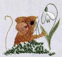 Image result for cross stitch snowdrops