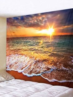 Lac Herbe Mountain SCENIC Tapestry Wall Hanging salon chambre dortoir decor