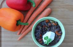 Best-Ever Black Bean Soup.  Very good, basic black bean soup and it's loaded with vegetables.