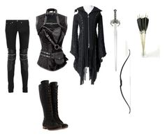 """""""The Dark Hunter"""" by aimmig ❤ liked on Polyvore featuring Yves Saint Laurent and John Fluevog"""