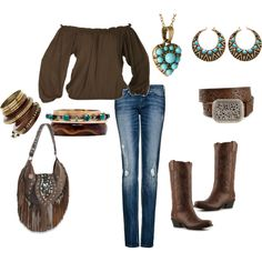 rodeo wear cept for boots and belt there to boring