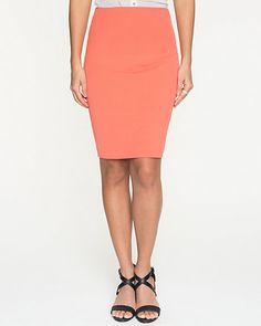 Le Château: Cotton Twill High Waisted Skirt
