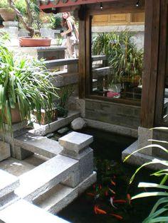 koi pond  / lijiang zen garden hotel