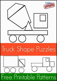 Truck Shape Sorting - File Folder Activities