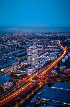 Munich by dusk - View over munich by dusk.