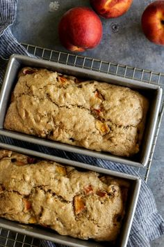 Peach Bread from afarmgirlsdabbles.com - This moist and flavorful quick bread is full of ripe, juicy peaches and salty roasted pecans. It's a wonderful way to enjoy summer's best peaches! #peach #peaches #bread #peachbread #summer #quickbread #pecan #pecans