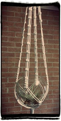 A contemporary look to a vintage craft this white macramé plant hanger can be u. - A contemporary look to a vintage craft this white macramé plant hanger can be used for many things - Macrame Design, Macrame Art, Macrame Projects, Macrame Knots, Macrame Hanging Planter, Macrame Plant Holder, Hanging Plants, Hanging Gardens, Macrame Plant Hanger Patterns