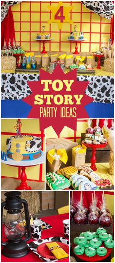 At this twins' Toy Story party, all the guests got a cowboy hat and sheriff badge! See more party ideas at CatchMyParty.com!