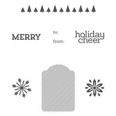 Cheerful Tags Photopolymer Stamp Set - by Stampin' Up!
