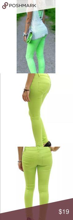 Lime Green Skinny Jeans Lime Green Skinny Jeans                                                           •Size 11                                                                                   •NWT Jeans Skinny