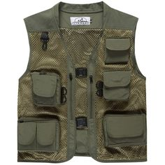 Summer Men's Camouflage Hunting Military Tactical Vest Photography Working Wear Vest Multi-pocket Mesh Fishing Vest free shipping worldwide