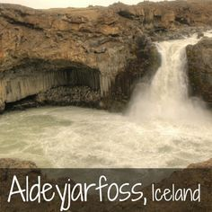 Aldeyjarfoss Waterfall Iceland - off the beaten path in North Iceland, these falls stand out with basalt columns and bare landscape - Photos and info