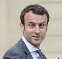 The current French President, Emanuel Macron, dapper and stylish