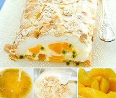 Peaches and Passionfruit Pav