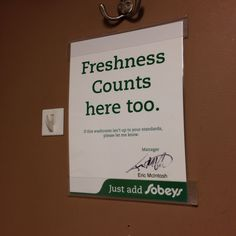 Freshness counts.